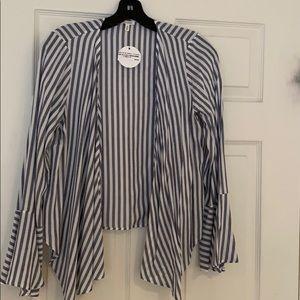 En Creme Tie Top (Striped)